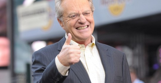 "NEW YORK - OCTOBER 11:  TV Host Jerry Springer celebrates the taping of ""The Jerry Springer Show"" 20th anniversary show at Military Island, Times Square on October 11, 2010 in New York City.  (Photo by Michael Loccisano/Getty Images)"
